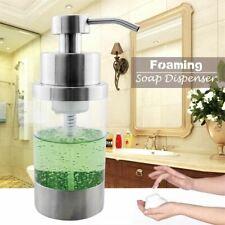 304 Stainless Steel Foam Foaming Soap Dispenser Pump Bottle Kitchen Countertop