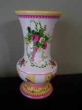 Beautiful Laura Ashley Ceramic Romantic Floral Style Vase Valentines day Gift !