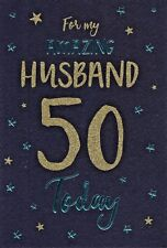 50th marito cartolina di Compleanno Età 50 ~ Qualità Carta Design Moderno & BELLA strofa