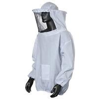 Protective Beekeeping Jacket Veil Smock Equipment Bee Keeping Hat Sleeve Suit JX