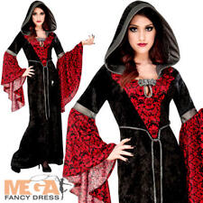 Vampire Ladies Halloween Fancy Dress Wicked Sorceress Witch Womens Adult Costume