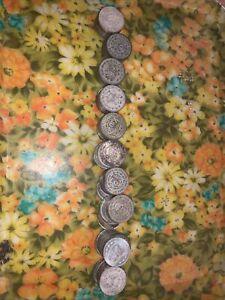 100 silver Mexican Un pesos Mixed Dates Circulated