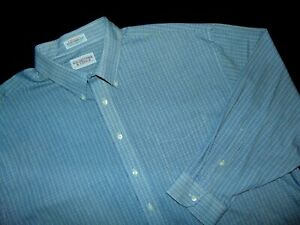 ROUNDTREE & YORKE Dress Shirt ~ 19 X 36 ~ BIG &TALL ~ Cotton Blend ~  Plaid