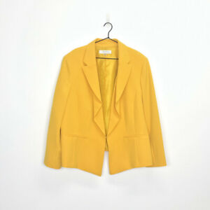 Tahari Arthur S. Levine Plus Size Flounced Blazer Marigold Yellow 20W