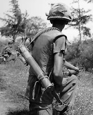 Vietnam War US Army Marine Soldier Light Assault Rifle, Photo Reprint 6x5 inch