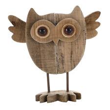 1 STÜCK Treibholz Eule Vogel Figur Ornament Tier Statuen Handgefertigte