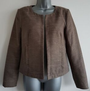 Size 10 Jacket Brown ONLY CLOTHING Fitted Tailored Great Condition Women's