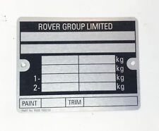 Classic Mini New Rover Chassis Plate