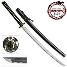 MOSHIRO Folded Steel Samurai Sword 1000+ Layers Battle Ready Ronin Katana
