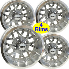 4) Golf Cart RIM WHEEL 12x6 4/4 3+3 RHOX RX284-MS for EZ-Go Club Car Yamaha more