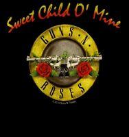 GUNS N' ROSES cd cvr SWEET CHILD O MINE Official Baby ONE PIECE Shirt 6 Months