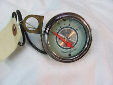 Vintage Stewart Warner TWIN BLUE 2 1/8 NOS  Vacuum gauge date  1958