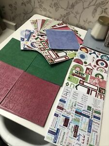 Scrapbook Bundle Stickers Tags Backing Papers Card Backed Embellishments Xmas