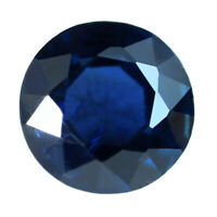 Certified Natural Unheated Blue Sapphire 0.81ct VS Clarity Madagascar 5mm Round