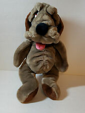 "Wrinkles Dog Plush Puppet Kennel Club Collar 18"" Animal Playthings 1985 Vintage"