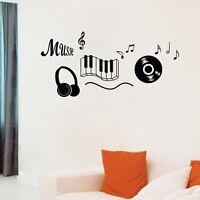 Music Notation Wall Sticker Removable Decal Mural Art Room Decor DIY Musical