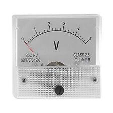 Direct Current 0-5 V White Voltmeter Analog Panel Meter