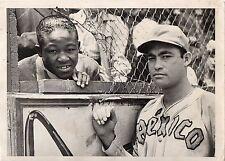 1945 Original Baseball Photo Cubans TOMAS DE LA CRUZ & Boxer KID GAVILAN Mexico