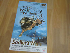 LION WITCH and the WARDROBE  2001 Lovely SADLERS Wells Theatre Poster