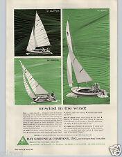 1965 PAPER AD Ray Greene & Co Sail Boat 12' 14' 16' Rebel Starcraft Motor