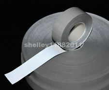 "Self-adhesive Silver Reflective Fabric TC Material Tape Width 1"" (25mm) x 10m"