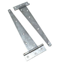 "pair 2 x Fence Multibuy 10/"" 250mm Zinc Gate Hinges Tee Hinge for Garden Gate"