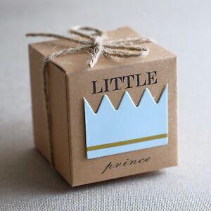 24st Taufgeschenk Gastgeschenk Baby Taufe Geburtstag Box Schachtelb (Prince)