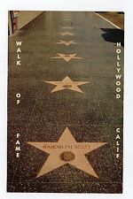 Chrome Postcard,Walk of Fame,Hollywood,California