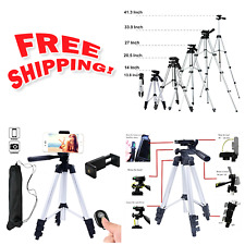 Hi-tec Aluminum Camera, Cell Phone Tripod With Bluetooth Remote Control Shutter