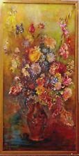 Grand tableau Bouquet fleurs par Daisy Basançon peintre Franc Comtois