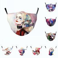 Suicide Squad Harley Quinn Harleen Quinzel Cosplay Face Mask Adult Kids Masks