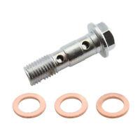Double Stainless Brake Banjo Bolt 10mm M10 x 1.25MM Caliper Master Cylinder
