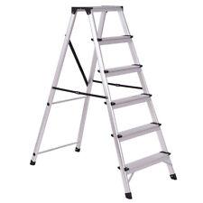 6 Step Aluminum Ladder Non-Slip Folding Platform Stool 330Lbs Load Capacity New
