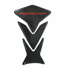 """9"""" Red Real Carbon Fiber Fuel Gas Tank Protector Pad For Ducati Monster Models"""