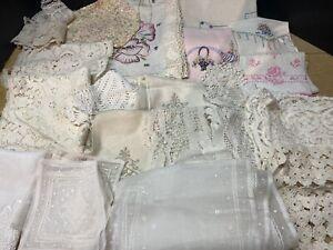 Huge Lot Of Vintage Linens Crochet Doilies ...LQQK!  #2