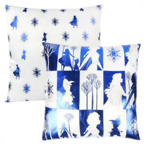 Disney Frozen 2 Metal Square Blue & White Cushion 40 x 40cm Anna & Elsa Olaf