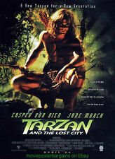 TARZAN AND THE LOST CITY MOVIE POSTER  CASPER VAN DIEN