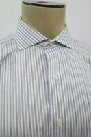 Brooks Brothers Madison Supima Blue Striped Non Iron Dress Shirt 16-34