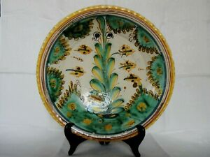 18 Century Spanish TALAVERA Majolica Shallow Tin Glazed Earthenware Pottery Bowl