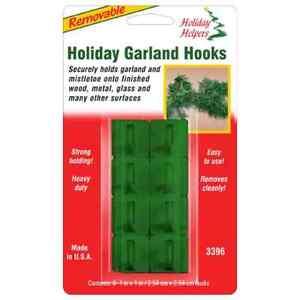 8 Pack   Christmas Garland Removable Hooks Self Adhesive Xmas Lights Decoration