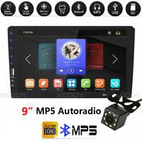 "1 Din 9 "" Autoradio MP5 FM Player Touchscreen Stereo Radio Bluetooth + Kamera"