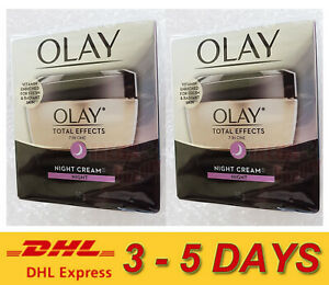 2x Olay Total Effects 7-In-One Anti-Ageing Night Cream All Skin 50g ** Express !
