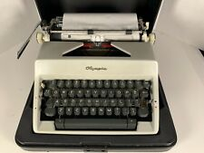 vintage 1969 portable Olympia manual typewriter in case western germany ex.cond
