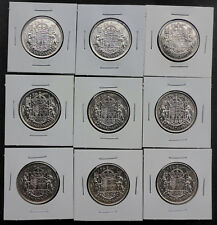 BIRTHDAY COINS SILVER CANADIAN 1/2 DOLLAR 1940-1950 UNICORN/LION 1 COIN ONLY