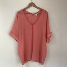 Witchery Womens Top, Size 14, Pure Silk Pink