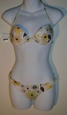 VERDISSIMA Brasil bikini push up halter bikini floral large / uk 36 rrp £ 68