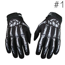 Men's Cycling Motorcycle Racing Skeleton Skull Bone Sports Warm Gloves M-XL