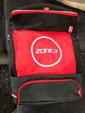 zone 3 triathlon transition backpack black/red