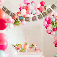 """""""Boy Or Girl"""" Baby Shower Party Hanging Garland Gender Reveal Bunting Banner"""