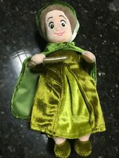 "Disney Store Sleeping Beauty Approx 10"" Green Fairy Godmother Fauna Plush Doll"